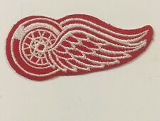 "Detroit  Red Wings Logo Patch Iron On Sew On 3""x 1.25"""" Inch"