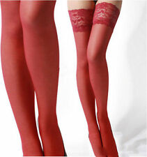 Sexy Womens Lace Top Stay Up Thigh High Fashion Stockings Nightclubs Pantyhose