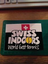 ADESIVO VINTAGE STICKER kleber SWISS INDOORS WORLD BEST TENNIS