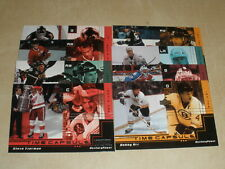 1999-00 Upper Deck Powerdeck Auxilary Power Time Capsule 8 Card Lot Yzerman Hull