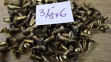 "bag of 50  3/8"" x 6 solid brass countersunk slotted head wood screws traditional"