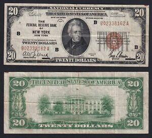 United States 20 Dollars 1929 New York BB / VF A-01