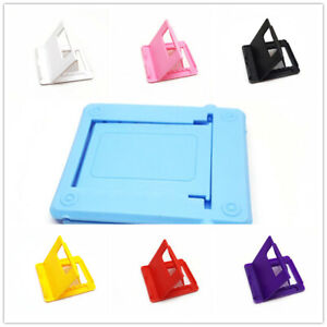 Universal Adjustable Folding Mobile Phone Holder Stand Desk Tablet Portable UK