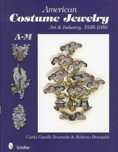 Vintage American Costume Jewelry Guide V1 Makers A-M 1935-50 Rhinestones & More