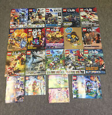 collection/lot of 20 Lego magazines and booklets