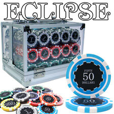 New 600 Eclipse 14g Clay Poker Chips Set with Acrylic Case - Pick Chips!