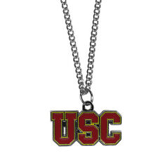 "usc trojans charm college football necklace 22"" chain"