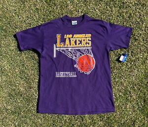 Vintage 1980s Deadstock NBA Los Angeles Lakers T-Shirt Size XL