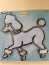 "Simplicity Poodle Applique White & Gray 6"" x 6"" Nip Iron On or Sew"