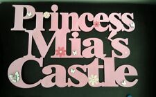 Personalised Childrens bedroom Door Room Sign Wallhanging name kids princess