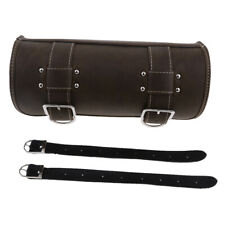 Brown Motorcycle PU Leather Tool Bag Panniers Saddlebag Storage Pouch