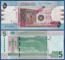 SUDAN 5 Pounds 2011  UNC   P. 72
