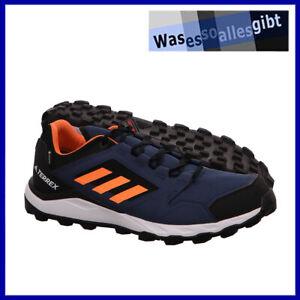 SCHNÄPPCHEN! adidas Terrex Agravic TR GTX  blau/orange  Gr.: 45 1/3  #O 21704