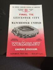 Leicester V Manchester United 1963 FA Cup Final Soccer Programme Free Postage