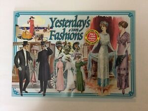 Collectable Calendar 2009 Yesterday's Fashions 12 Months Vintage Fashion.