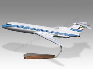 Hawker Siddeley HS-121 Trident Kuwait Airways Solid Maogany Wood Desktop Model