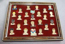 Rare CADRE 26 PINS OL )) OLYMPIQUE LYONNAIS Saison 1991/92 numéroté 309