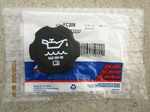 GM CHEVY 12573337 ACDELCO FC208 FC-208 ENGINE OIL FILLER FLUID CAP OEM BRAND NEW