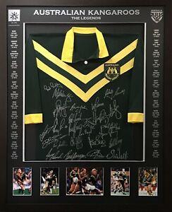 Australian Legends signed & framed rugby league jersey - Blazed In Glory