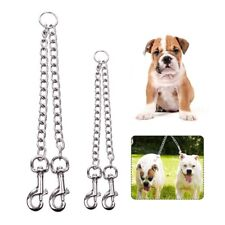2 Way Metal Lead Chain Coupler Double Twin Dog Leash for Two Dogs No  Safe