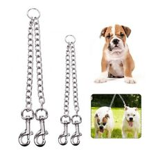 2 Way Metal Lead Chain Coupler Double Twin Dog Leash for Two Dog