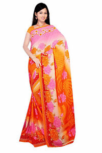 Chiffon Bollywood Karneval Sari Orient Indien Fo411