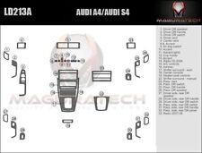 Fits Audi A4 4DR 05-08 NO Navigation NO Factory Wood Basic Wood Dash Trim Kit