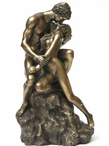 Lovers Pair Figure Sculpture with Cold Bronze Coating 20078D
