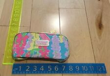 Lilly Pulitzer for Estee Lauder cosmetic/make up bag Pink Blue - Brand New