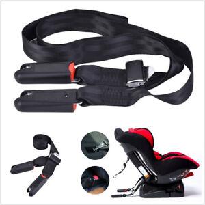 Vehicle Seatbelt Black Toptether + Bottom ISOFIX LATCH Belt Connector Interface