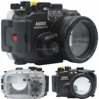 40M 130ft Underwater Diving Waterproof Housing Case for Sony A6000 16-50 mm Lens