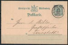Württemberg, P 34 Stuttgart nach Cannstatt 20.01.1893