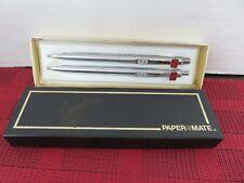 Vintage Advertising Papermate Pen & Pencil Set Box Double Heart- Toro