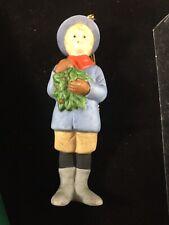 "1987 Gorham G8802 Old World Christmas boy w/ Miniature tree figure 5"""
