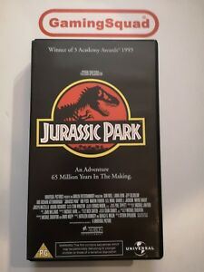Jurassic Park VHS Video Retro, Supplied by Gaming Squad