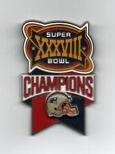 New England Patriots Super Bowl XXXVIII 38 Champions Pin