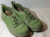Earth Origins Carly Women's Green Suede Slip On Sneakers Shoes Size 10 M 2015S