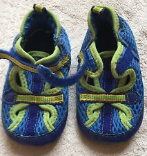 """Robeez Toddler Boys Water Shoes, Size 3 Toddler, Blue & Green, Measured 4.75""""-5"""""""