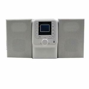 SYLVANIA SRCD2732BT-WHITE Bluetooth Micro System with FM Radio and CD Player ...