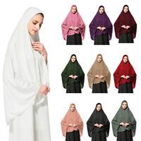 Women Muslim Prayer Dress Hijab Long Scarf Islamic Large Overhead Shawl Jilbab