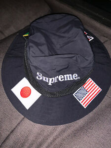 Supreme Flags Boonie Hat Black Size M/L
