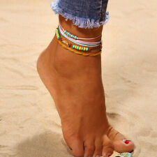 4x Colorful Ankle Bracelet Women Anklet Adjustable Chain Foot Beach Jewelry 2019