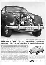 SAAB MONTE CARLO 2 STROKE RETRO A3 POSTER PRINT FROM CLASSIC 60'S ADVERT