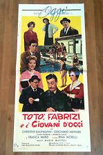 TOTò, FABRIZI E I GIOVANI D'OGGI locandina poster Mario Mattoli Aldo 1960 S29
