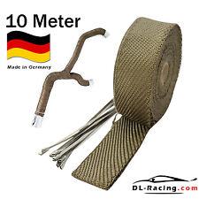 10 m Titan Hitzeschutz band Auspuff Band 1450° Hitzeschutz Heat Wrap Krümmer
