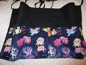Waitress Apron Server Black 3 Pocket Mermaids  W/WO Name Lady Pizazz