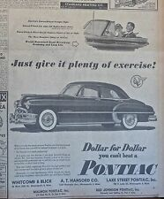 1950 newspaper ad for Pontiac - Give it Plenty of Exercise! Silver Streak