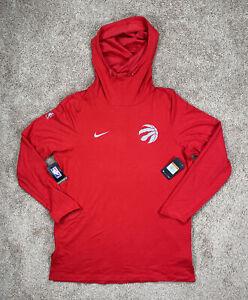 NEW Sz XXL-T Nike NBA Toronto Raptors Team Issued Dri-Fit Training Hoodie Red
