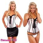 Burlesque Satin Moulin Rouge Corset Lace Up Dress Up Costume Showgirl Bustier
