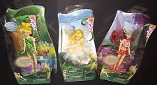 Disney Tinkerbell Fairy Flutter Wings Dolls Lot of 3 Includes 2 Tink & 1 Rosetta